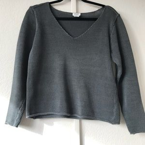 EILEEN FISHER thick V neck  sweater